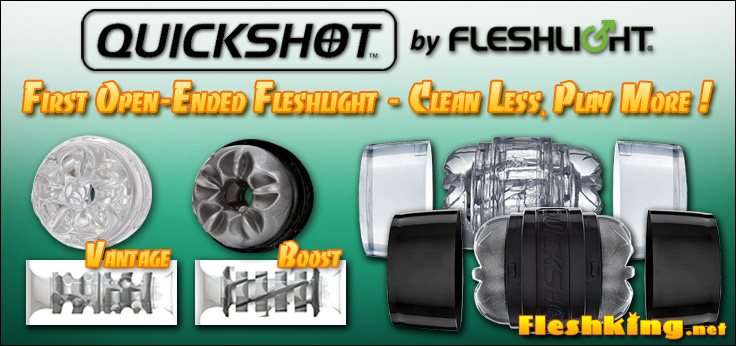 Fleshlight Quickshot Boost & Vantage - new double-ended masturbator