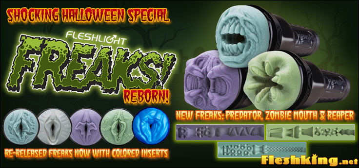 New Fleshlight Freaks: Predator, Zombie Mouth and Reaper introduced